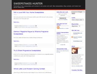 sweepstakeshunter.blogspot.com screenshot