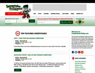 sweepstakestoday.com screenshot