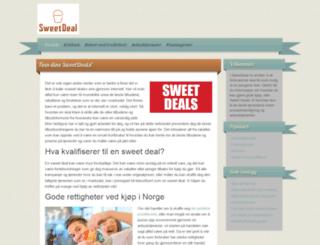 sweetdeal.no screenshot