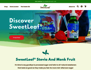 sweetleaf.com screenshot
