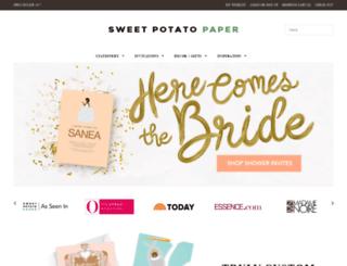sweetpotatopaper.com screenshot