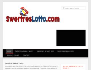 swertreslotto.com screenshot