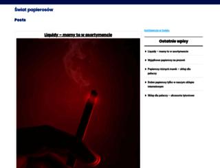swiatpapierosow.pl screenshot