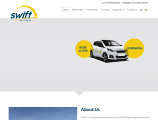 swiftcarhire.com screenshot