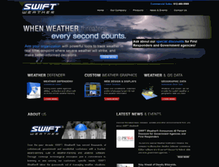 swiftweather.com screenshot