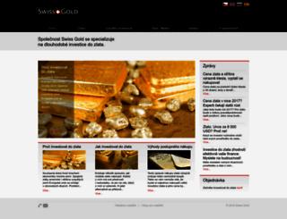 swiss-gold.cz screenshot