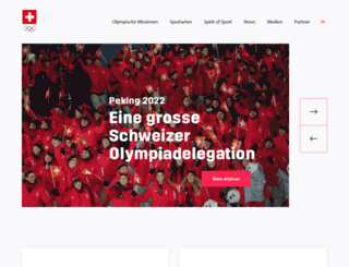 swissolympicteam.ch screenshot