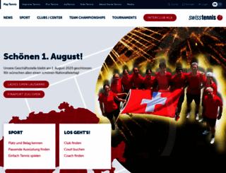 swisstennis.ch screenshot
