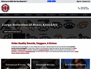 swordsknivesanddaggers.com screenshot