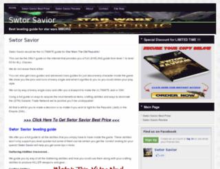 swtorsavior.org screenshot