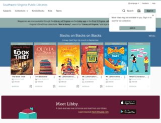 swvirginia.libraryreserve.com screenshot