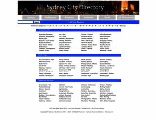 sydney-city-directory.com.au screenshot