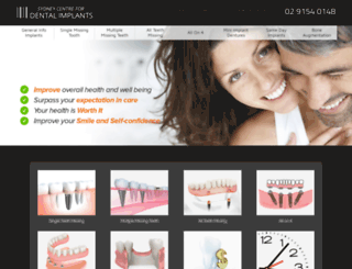 sydneydentalimplantcentre.com.au screenshot