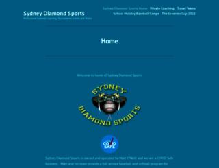 sydneydiamondsports.com.au screenshot
