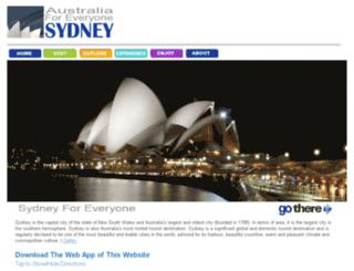 sydneyforeveryone.com.au screenshot