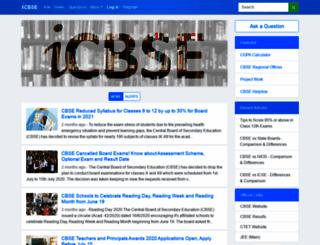 syllabus.icbse.com screenshot