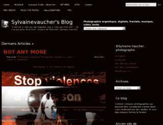 sylvainevaucher.wordpress.com screenshot