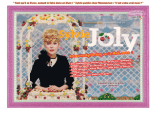 sylviejoly.com screenshot