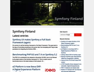 symfony.fi screenshot