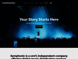 symphonicdistribution.com screenshot