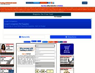 syndicatebankpo.testbag.com screenshot