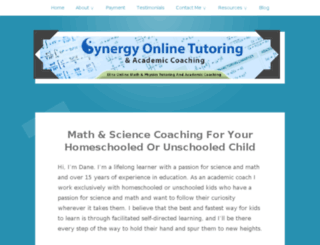 synergytutoring.wordpress.com screenshot
