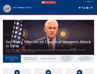 syria.usembassy.gov screenshot