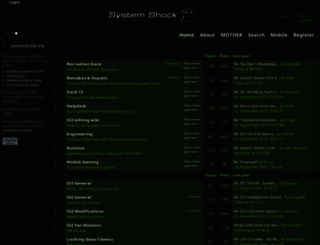 systemshock.org screenshot