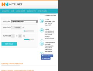 szemelyikolcson.hitel.co.hu screenshot