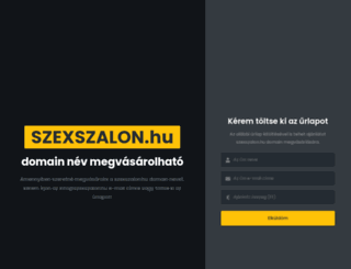 szexszalon.hu screenshot