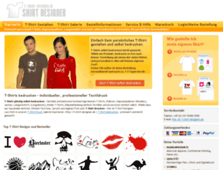 t-shirt-designen.de screenshot