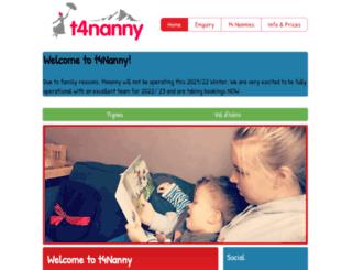 t4nanny.com screenshot