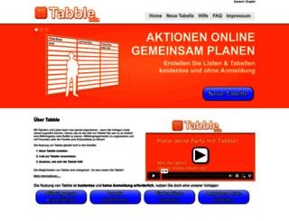 tabble.de screenshot