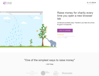 tabforacause.org screenshot