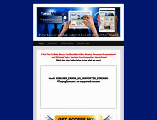 tabletvideopresenter.com screenshot