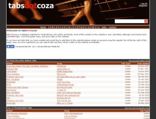 tabs.co.za screenshot