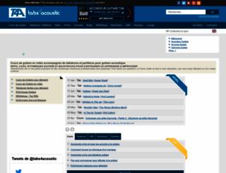 tabs4acoustic.com screenshot