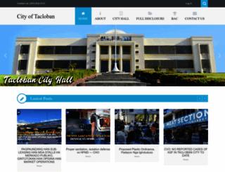 tacloban.gov.ph screenshot