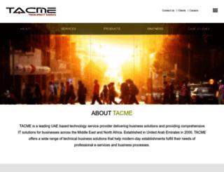 tacme.com screenshot