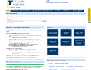 tacomacc.libguides.com screenshot
