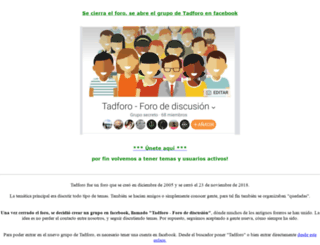 tadforo.com screenshot