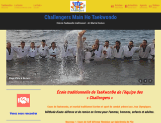 taekwondo-club.fr screenshot