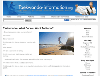 taekwondo-information.org screenshot