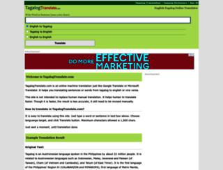 tagalogtranslate.com screenshot