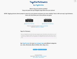 tagsforfollowers.com screenshot