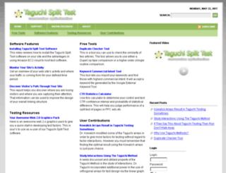 taguchisplittest.com screenshot