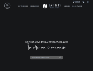 tahiti-tourisme.pf screenshot
