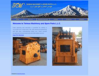 tahmasmachinery.com screenshot