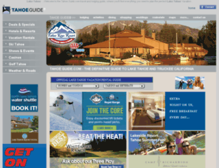 tahoeguide.com screenshot