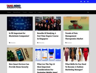 tahonews.com screenshot